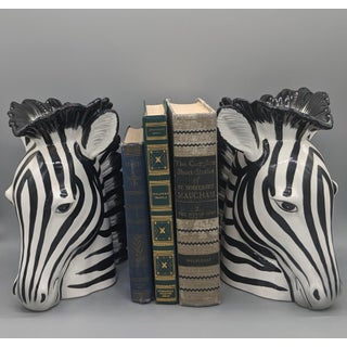 Fitz and Floyd Zebra Vase Bookends - a Pair Preview
