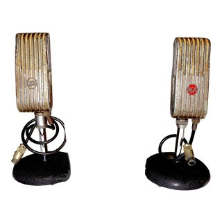 1945 Broadcast Microphones Bookends - A Pair For Sale