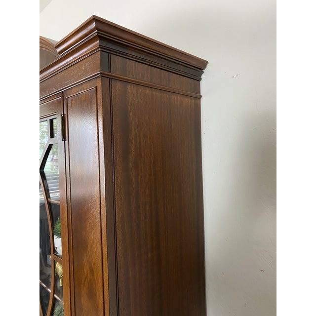Brown 1950s Vintage Federal Style Cabinet For Sale - Image 8 of 12