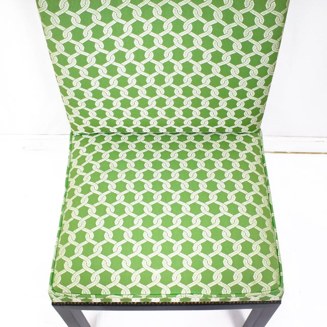 Green Accent Chairs - A Pair - Image 5 of 7