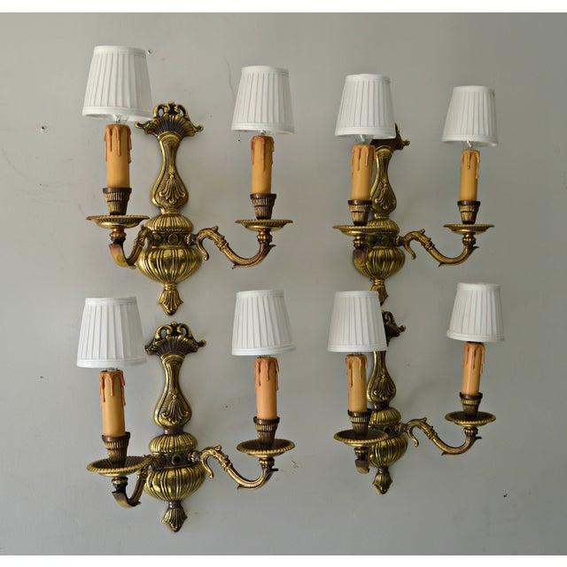 French Boudoir Sconces - Set of 4 - Image 8 of 8