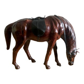 1970s Leather Horse Statue For Sale