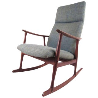Classic Mid-Century Danish Teak Rocking Chair For Sale