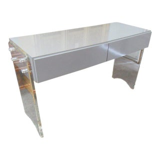 Lucite & Mica Vanity For Sale