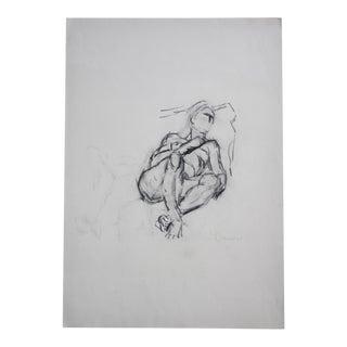 Vintage Reclining Nude Drawing Pencil / Graphite #3 Artist Julianne Darrow Humar (1926-2018) For Sale