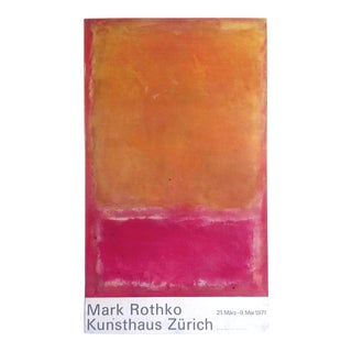 Mark Rothko Rare Vintage 1971 Abstract Expressionist Lithograph Print Collector's Large Swiss Museum Exhibition Poster For Sale