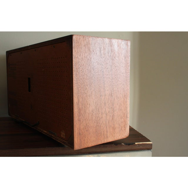 Vintage Panasonic Solid State Amfm Transistor Radio Model #Re-7487 With Refinished Teak Cabinet For Sale - Image 4 of 10
