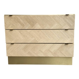 Ello Travertine & Brass Chest of Drawers