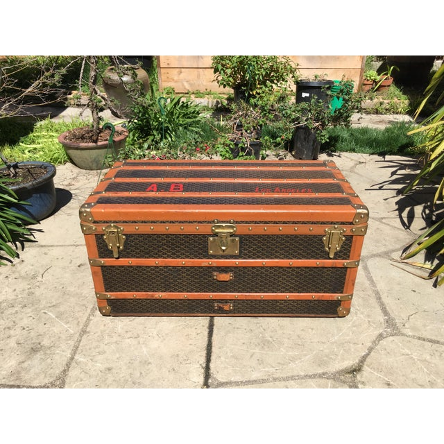 1930s Traditional Goyard Steamer Trunk For Sale - Image 13 of 13