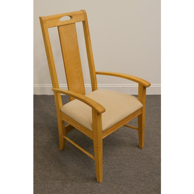 Thomasville Late 20th Century Vintage Thomasville Furntiure American Revival Collection Dining Arm Chair For Sale - Image 4 of 9