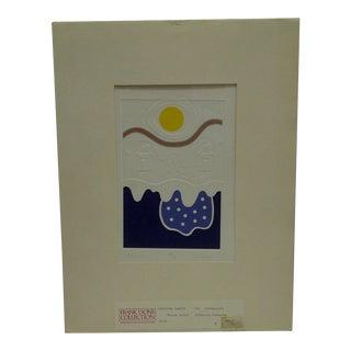 """Silkscreen Print """"Winter Walks"""" by Christina Parrett For Sale"""