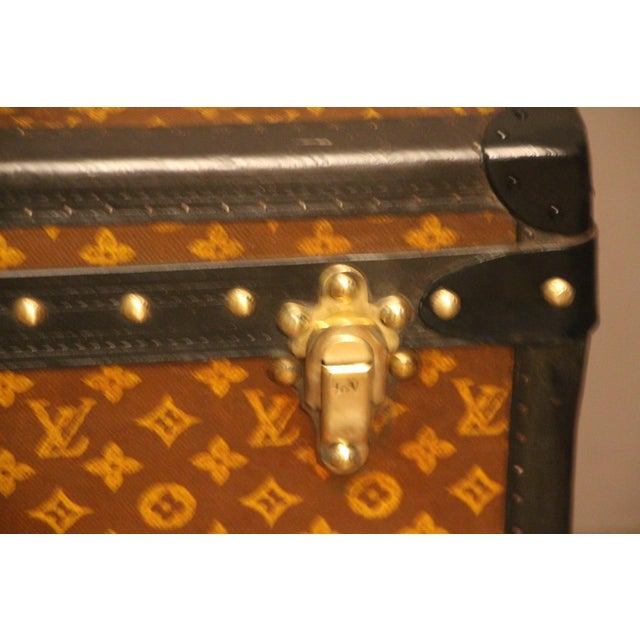 1930s Louis Vuitton Cube Steamer Trunk For Sale - Image 5 of 13