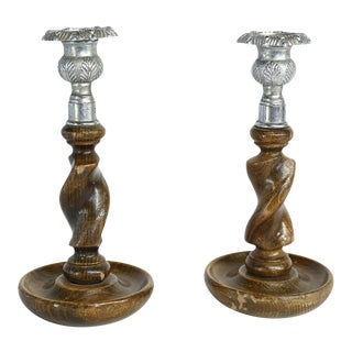 Pair of English Candlesticks For Sale
