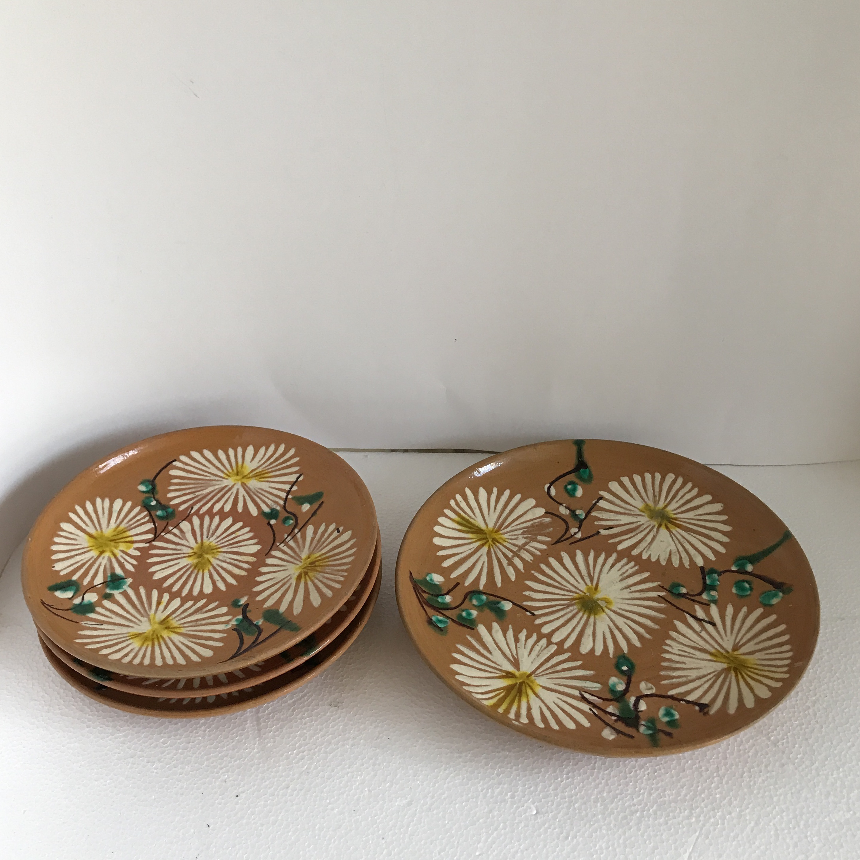 Vintage Mexican Pottery Plates Set of 4 - Image 7 of 10 : mexican plate set - pezcame.com