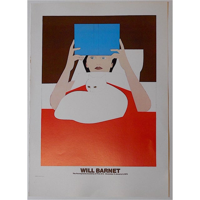 Mid-Century Modern Will Barnet Vintage Poster Lithograph For Sale - Image 3 of 3