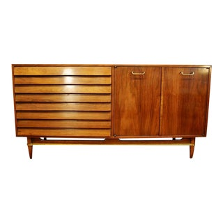 Mid Century Modern American of Martinsville Walnut Credenza For Sale
