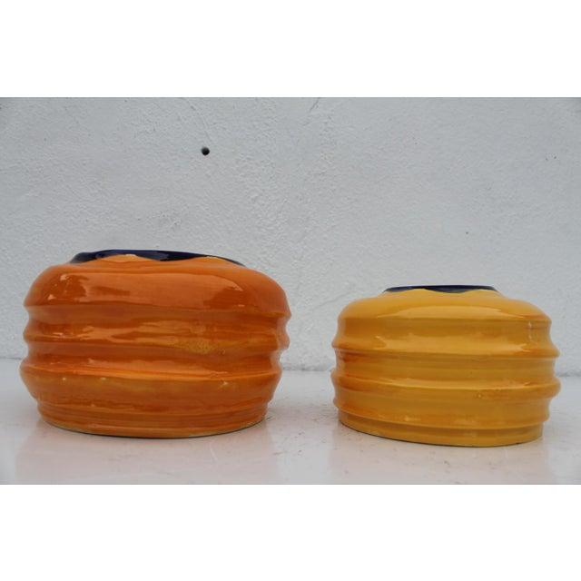 Vintage Colorful Art Ceramic Vases - a Pair - Image 4 of 6