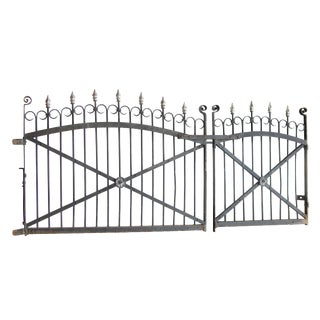 1890s Set of Driveway Gates With Matching Garden Gate