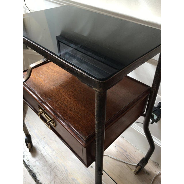 Ship's Teak and Smoked Glass Medical Trolley, Mid-1900s For Sale In Nantucket - Image 6 of 10