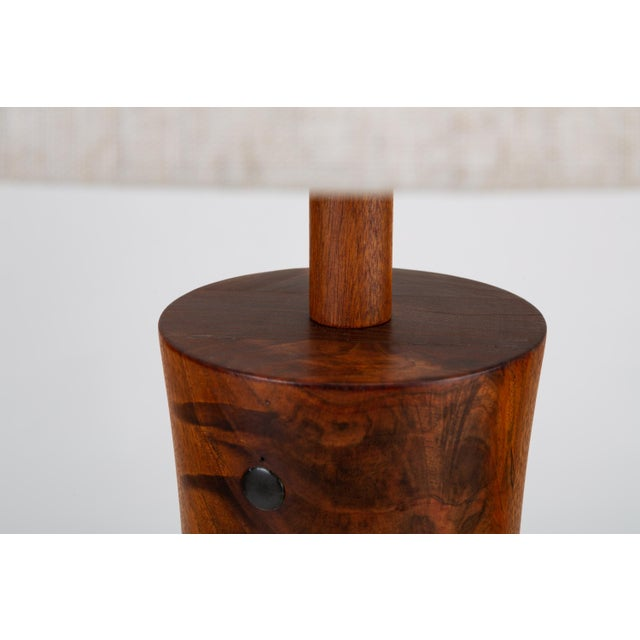 Wood Wooden Table Lamp With Tile Inlay by Gordon & Jane Martz For Sale - Image 7 of 10