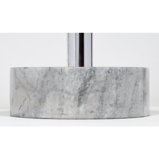 Guzzini Mid-Century Chrome Arc Floor Lamp For Sale - Image 10 of 10