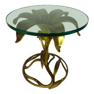 "Arthur Court ""Lily"" Side Table For Sale"