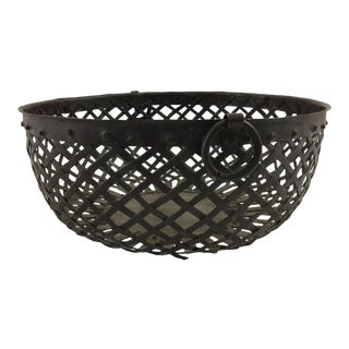 French 19th Century Woven Steel Bowl For Sale