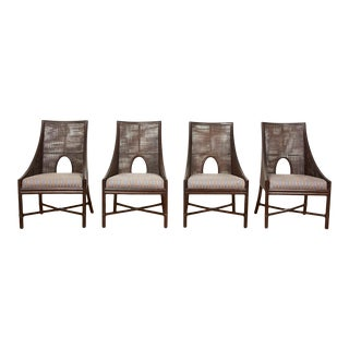 Barbara Barry for McGuire Cane and Rattan Dining Chairs For Sale