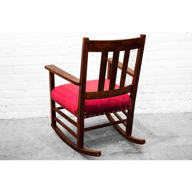 Craftsman Velvet Rocking Chair Chairish