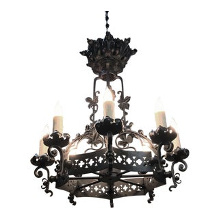 Antique Gothic Crystal Chandelier