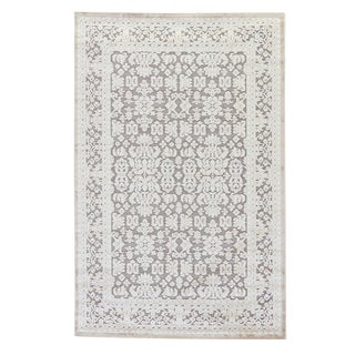 Jaipur Living Regal Damask Gray/ White Area Rug - 2′ × 3′ For Sale