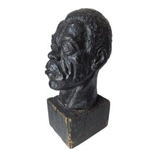 1940s Figurative Head Sculpture For Sale