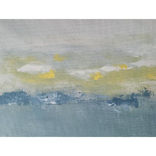 """""""Winter Sun"""" Contemporary Abstract Expressionist Landscape Acrylic Painting For Sale"""
