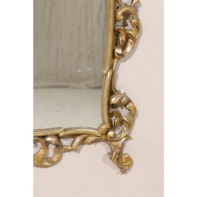 Early 20th Century Italian Gold and Silver Gilt Mirror For Sale - Image 9 of 11
