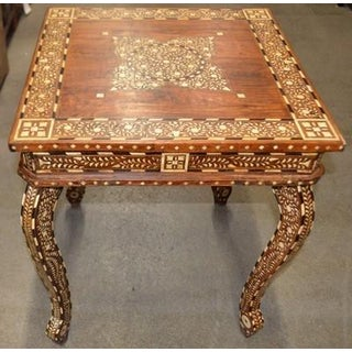 Indian Bone Inlay Square Side Table Preview