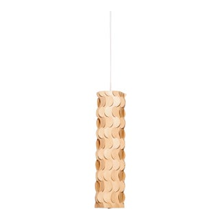 Sculptural Birch Wood Pendant Lamp For Sale