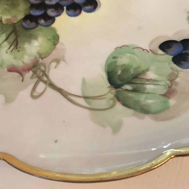 Cottage Early 20th Century Antique French Limoges Plate For Sale - Image 3 of 11