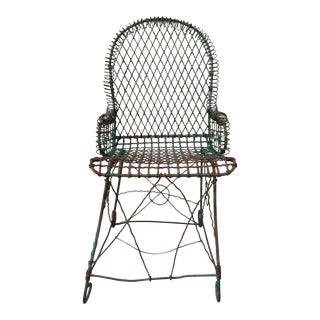 1950s Vintage Wire Garden Chair For Sale