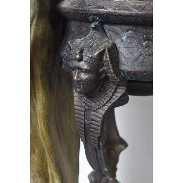 1900 - 1909 Bronze Orientalist Figural Floor Jardiniere by Peyre For Sale - Image 5 of 11