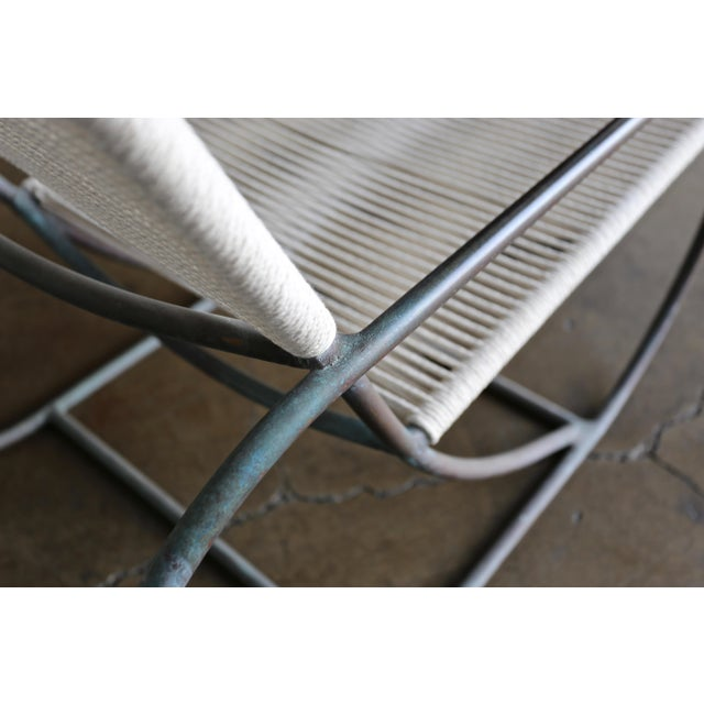 Bronze Bronze Outdoor Lounge Chair and Ottoman by Kipp Stewart for Terra of California For Sale - Image 7 of 13