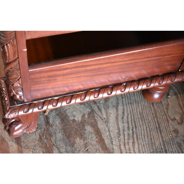 Wood Restored Antique Flame Mahogany Dining Server Buffet Sideboard For Sale - Image 7 of 9