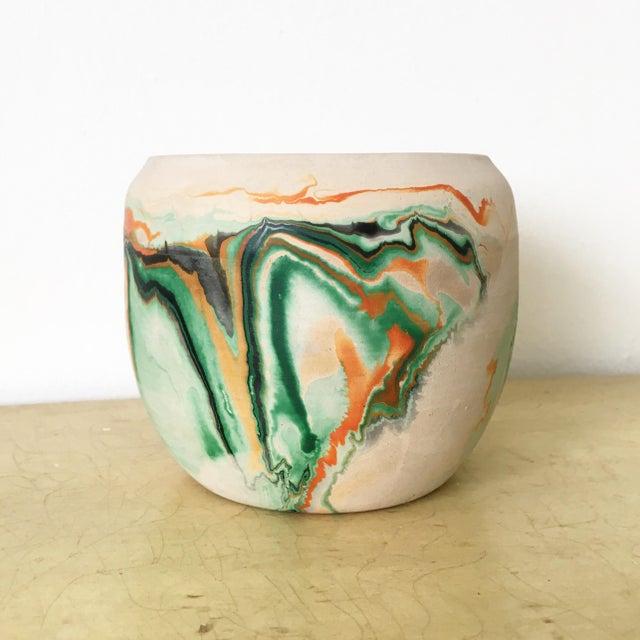 Vintage Nemadji Green Pottery Vase - Image 2 of 9