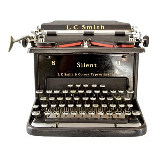 Antique L.C. Smith & Corona Silent Black Manual Typewriter