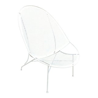 1960s Mid-Century Modern Salterini Radar White Metal Patio Chair
