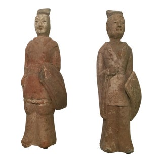 Chinese Tang Dynasty Figures - A Pair