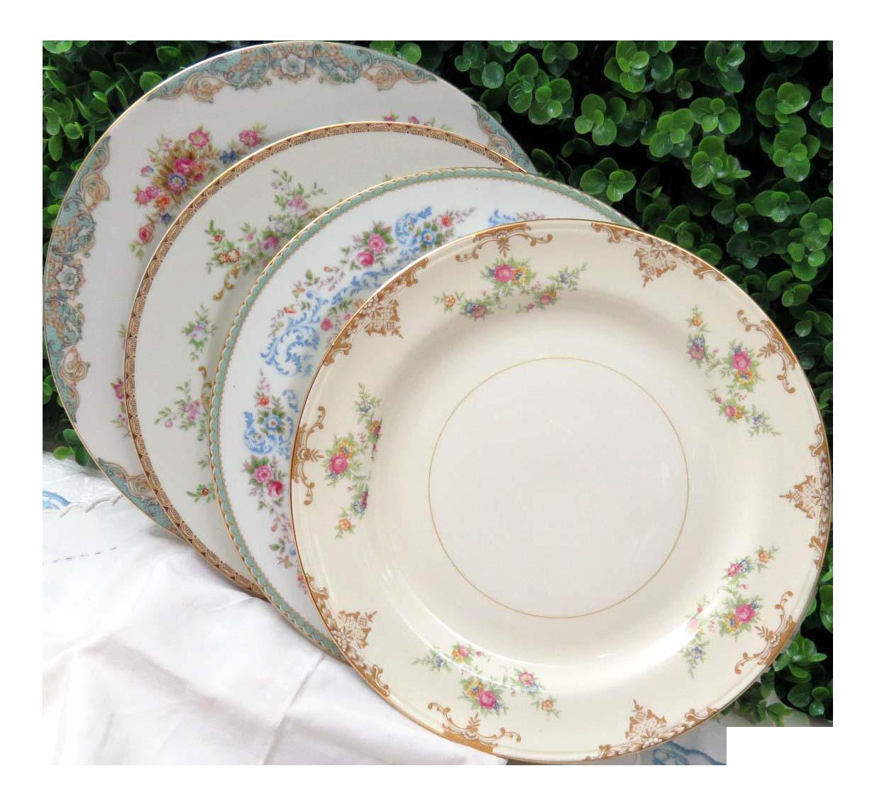 Vintage Mismatched Fine China Dinner Plates - Set of 4  sc 1 st  Chairish & Vintage Mismatched Fine China Dinner Plates - Set of 4 | Chairish