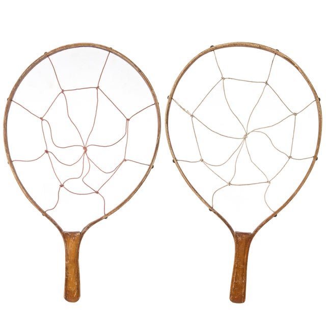 Vintage Wood Game Racquets - Pair - Image 1 of 2
