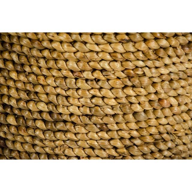 Fiber Woven Seagrass Handled Basket For Sale - Image 7 of 8