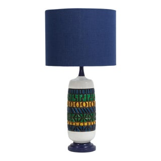 Aztec Style Ceramic Lamp 1970s For Sale