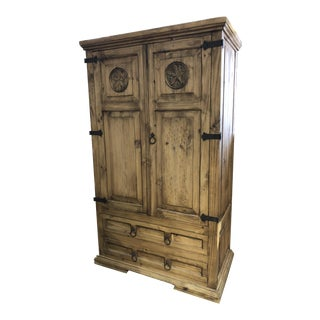Solid Oak Amish or Texas Star Armoire